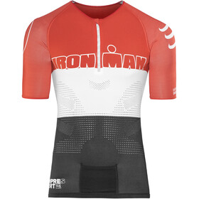 Compressport TR3 Aero Triathlon Top Unisex Ironman Edition Stripes Red